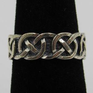 Vintage Size 5.75 Sterling Rustic Celtic Band Ring